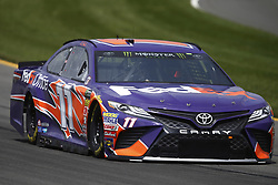 June 1, 2018 - Long Pond, Pennsylvania, United States of America - Denny Hamlin (11) brings his car through the turns during practice for the Pocono 400 at Pocono Raceway in Long Pond, Pennsylvania. (Credit Image: © Chris Owens Asp Inc/ASP via ZUMA Wire)