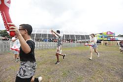 Movimento de Publico durante a 25ª edição do Planeta Atlântida. O maior festival de música do Sul do Brasil ocorre nos dias 31 Janeiro e 01 de fevereiro, na SABA, praia de Atlântida, no Litoral Norte do Rio Grande do Sul. FOTO: <br /> Diego Vara/ Agência Preview