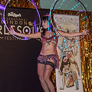 Amy HoopLovin,London preforms at the London Burlesque Festival the VIP Opening Gala at Conway Hall on 18th May 2017, UK. by See Li