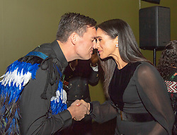 The Duchess of Sussex receives a Hongi, a traditional Maori greeting, as she attends the opening of Oceania at the Royal Academy of Arts in London.