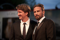 Actor Matthias Schoenaerts and Director Tom Hooper<br /> at the gala screening for the film The Danish Girl  at the 72nd Venice Film Festival, Saturday September 5th 2015, Venice Lido, Italy.