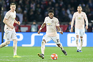 Manchester United Midfielder Fred during the Champions League Round of 16 2nd leg match between Paris Saint-Germain and Manchester United at Parc des Princes, Paris, France on 6 March 2019.