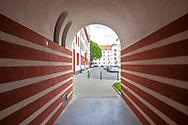 the Naumann housing estate in the district Riehl, built in the years 1927-1929, passage, Cologne, Germany.<br /> <br /> die Naumannsiedlung im Stadtteil Riehl, in den Jahren 1927-1929 erbaut, Durchgang, Koeln, Deutschland.