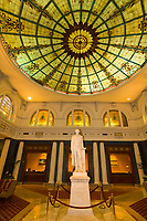 Thomas Jefferson statue in the lobby of the Jefferson Hotel, Richmond, Virginia USA