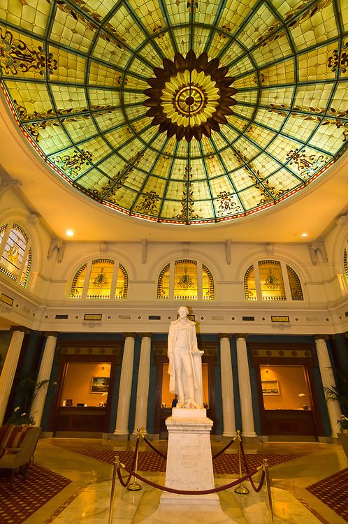 Thomas Jefferson statue in the lobby of the Jefferson Hotel, Richmond, Virginia USA