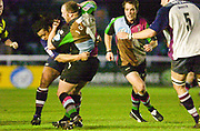 Twickenham, England. Zurich Premiership.  Teri JONES held up with the ball, During the  Harlequins vs Rotherham Titans The Stoop Surrey. 16.04.2004. [Mandatory Credit: Peter Spurrier/Intersport-images].
