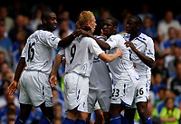 Photo: Richard Lane/Sportsbeat Images. <br />Chelsea v Birmingham. Barclay's Premiership. 12/08/2007. <br />Birmingham celebrate a goal by Mikael Forsell.