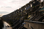 The Alexandra Road Estate on 25th February 2016 in North London, United Kingdom. Properly known as the Alexandra and Ainsworth Estate, also known as Rowley Way, is a housing estate in the London Borough of Camden in North West London, England
