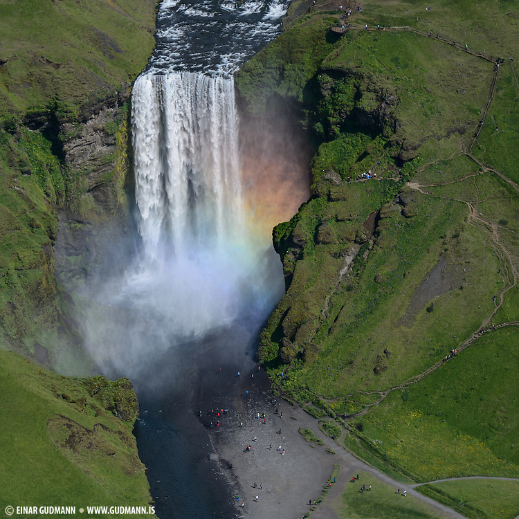 Skogafoss waterfall in south-Iceland.