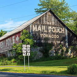 Ortanna, PA, USA- June 2, 2012: An older Mail Pouch Barn on Route 30 in Adams County, PA.