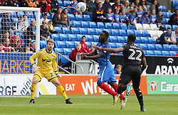 Junior Morias of Peterborough United heads a chance over the bar - Mandatory by-line: Joe Dent/JMP - 23/09/2017 - FOOTBALL - ABAX Stadium - Peterborough, England - Peterborough United v Wigan Athletic - Sky Bet League One