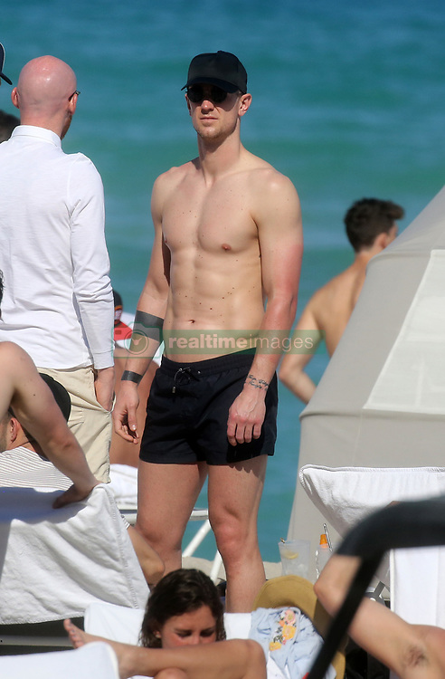 West Ham United players enjoy some time at the pool and on the beach at Fontainebleau Hotel in Miami Beach, Florida. 13 Mar 2018 Pictured: Joe Hart. Photo credit: MEGA TheMegaAgency.com +1 888 505 6342