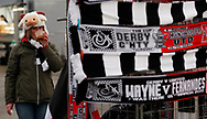 A Ram woolly hat on the head of a fan before the FA Cup match at the Pride Park Stadium, Derby. Picture date: 5th March 2020. Picture credit should read: Darren Staples/Sportimage