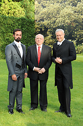 Left to right, EVGENY LEBEDEV, MIKHAIL GORBACHEV and ALEXANDER LEBEDEV at the Raisa Gorbachev Foundation Party held at Stud House, Hampton Court Palace on 5th June 2010.  The night is in aid of the Raisa Gorbachev Foundation, an international fund fighting child cancer.