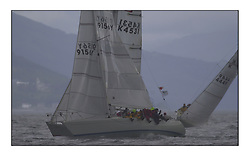 Yachting- The second start of the Bell Lawrie Scottish series 2002 at Inverkip racing to Tarbert Loch Fyne where racing continues over the weekend.<br />A near miss for Sigma 33s Odessey K9156Y and St Joan K4531 Class winner.<br />Pics Marc Turner / PFM