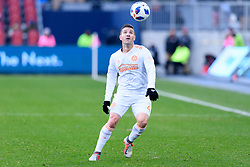 October 28, 2018 - Toronto, ON, U.S. - TORONTO, ON - OCTOBER 28: Greg Garza (4) of Atlanta United FC stops the ball during the first half of the MLS Decision Day match between Toronto FC and Atlanta United FC on October 28, 2018, at BMO Field in Toronto, ON, Canada. (Photograph by Julian Avram/Icon Sportswire) (Credit Image: © Julian Avram/Icon SMI via ZUMA Press)