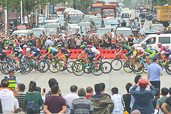 September 20, 2017 - Changde, China - A huge crowd of people watch the peloton during the second stage of the 2017 Tour of China 2, the 97.6km Changde Lixiang Circuit Race. .On Wednesday, 20 September 2017, in Lixian County, Changde City, Hunan Province, China. (Credit Image: © Artur Widak/NurPhoto via ZUMA Press)