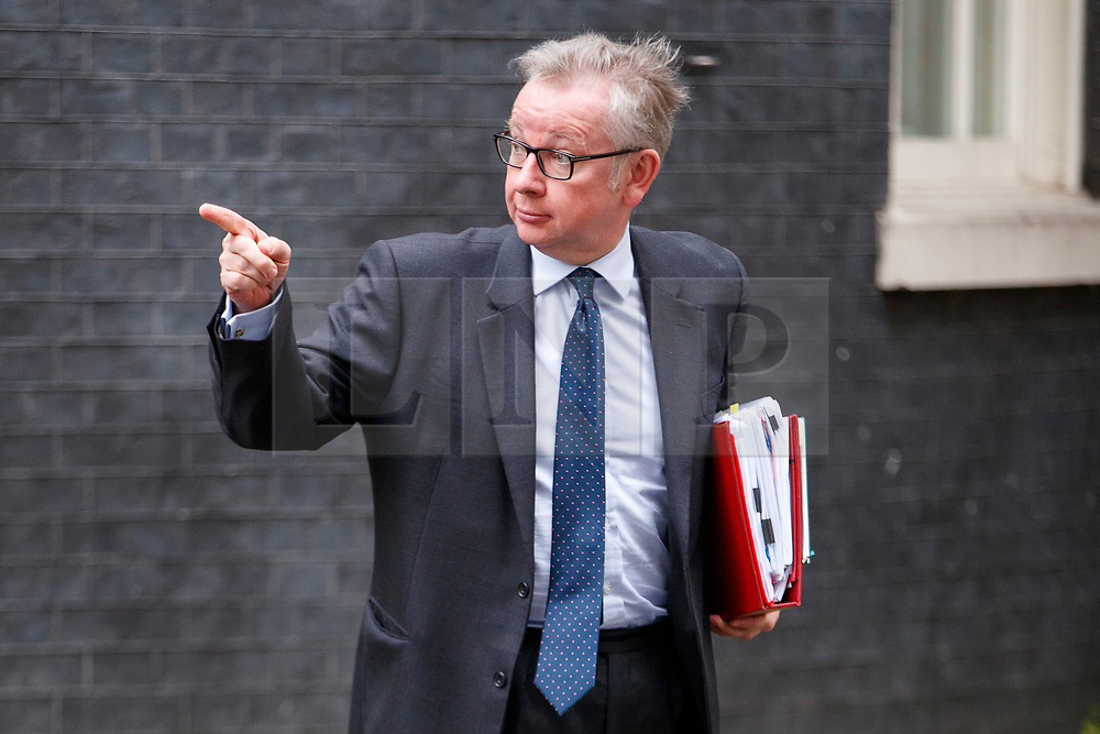 © Licensed to London News Pictures. 27/06/2017. London, UK. Environment, Food and Rural Affairs Secretary MICHAEL GOVE attends a cabinet meeting in Downing Street, London on Tuesday, 27 June 2017. Photo credit: Tolga Akmen/LNP