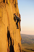 Ryan Pasquill soloing Appaloosa Sunset, E3 5c, Five Clouds, Roaches