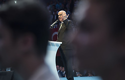 June 16, 2018 - °Stanbul, Türkiye - Turkey's National Movement Party leader Devlet Bahceli speaks during a rally in Istanbul city,  June 16th, 2018. Turkey will hold two elections: parliamentary and presidential, on June 24. (Credit Image: © Depo Photos via ZUMA Wire)