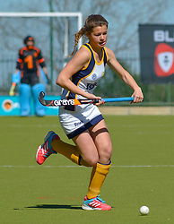Carienke Jacobs(Vice Captain) of Oranje during day one of the FNB Private Wealth Super 12 Hockey Tournament held at Oranje Meisieskool in Bloemfontein, South Africa on the 6th August 2016<br /> <br /> Photo by:   Frikkie Kapp / Real Time Images
