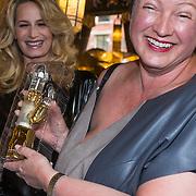 """NLD/Amsterdam/20130613 - Presentatie erotische triller """" Kamer 303 """" van Claudia Schoemacher - van Zweden, met Wilma Nanninga en haar gouden vibrator"""