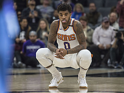 December 12, 2017 - Sacramento, CA, USA - The Phoenix Suns' Marquese Chriss (0) waits for the game to start against Sacramento Kings on Tuesday, Dec. 12, 2017, at the Golden 1 Center in Sacramento, Calif. (Credit Image: © Hector Amezcua/TNS via ZUMA Wire)