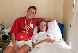 Donckers Karin (BEL) en Vandecaveye  Gella (BEL)<br /> Olympic Games Sydney 2000<br /> Photo © Dirk Caremans