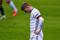 SEVILLE, SPAIN - Tuesday, November 17, 2020: Timo Werner of Germany disappointed during the UEFA Nations League match between Spain and Germany at Estadio La Cartuja de Sevilla. (Photo by Pablo Morano/Orange Pictures via Propaganda)