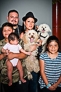 Poodles Runi and Diamond with their family.