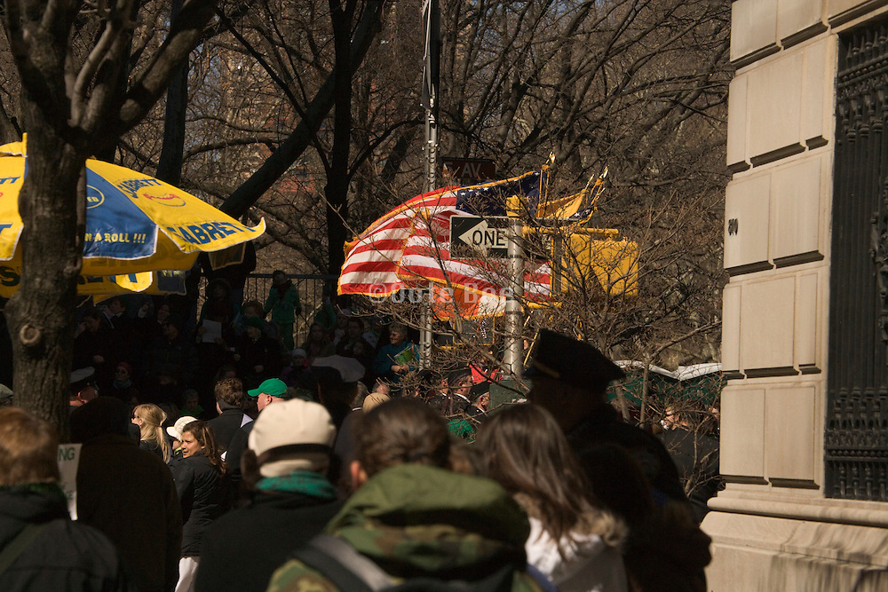 parade on 5th avenue New York City at about 70th street