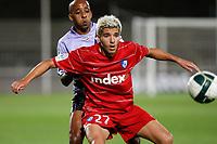 FOOTBALL - FRENCH CHAMPIONSHIP 2010/2011 - L2 - FC ISTRES v GRENOBLE F38 - 10/09/2010 - PHOTO PHILIPPE LAURENSON / DPPI -AMOR KEHIHA (IST) / MAHDI BOURABIA (GRE)