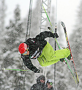 SHOT 12/18/10 11:33:45 AM - Walter Wood of Evergreen, Co. competes during the Ski Superpipe Finals at the Nike 6.0 Open stop of the Winter Dew Tour at Breckenridge Ski Resort in Breckenridge, Co. The event features ski and snowboard slopestyle and superpipe. (Photo by Marc Piscotty / © 2010)
