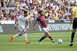 April 29, 2018 - Commerce City, Colorado - Colorado Rapids midfielder Jack Price (19) passes the ball in the first half of action in the MLS soccer game between Orlando City SC and the Colorado Rapids at Dick's Sporting Goods Park in Commerce City, Colorado (Credit Image: © Carl Auer via ZUMA Wire)