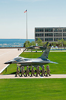 Air Force Academy cadets marching, Air Force Academy, Colorado Springs, Colorado USA