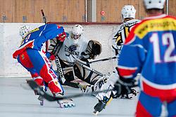 Marjan Manfreda of Slovenia misses the goal at inline hockey match between Dinamiti Horjul and Slovenia at HorjulCup, on June 9, 2011 in Sportni park, Horjul, Slovenia. (Photo by Matic Klansek Velej / Sportida)