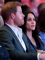 Prince Harry and Meghan Markle during the first Royal Foundation Forum in central London.