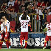 Galatasaray's players celebrate victory during their Turkish superleague soccer match Kardemir Karabukspor between Galatasaray Dr. Necmettin Seyhoglu stadium in Karabuk Turkey on Saturday 13 April 2013. Photo by Aykut AKICI/TURKPIX