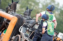 Georgina Hunt, (GBR), Chardon, Guus, Rambo, Waterreus - Driving Marathon - Alltech FEI World Equestrian Games™ 2014 - Normandy, France.<br /> © Hippo Foto Team - Jon Stroud<br /> 06/09/2014