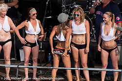 Wet T-Shirt contest at the Laconia Roadhouse during Laconia Motorcycle Week. Laconia, NH, USA. June 14, 2015.  Photography ©2015 Michael Lichter.
