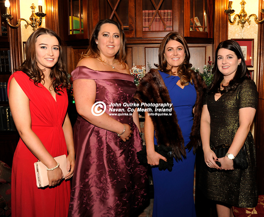 02-12-16. Meath Business and Tourism Awards 2015 at the Newgrange Hotel, Navan.<br /> Tayto Park Group from left, Orla Deegan, Sarah Russell, Niamh Reynolds and Sarah Laverty. <br /> Photo: John Quirke / www.quirke.ie<br /> ©John Quirke Photography, Unit 17, Blackcastle Shopping Cte. Navan. Co. Meath. 046-9079044 / 087-2579454.