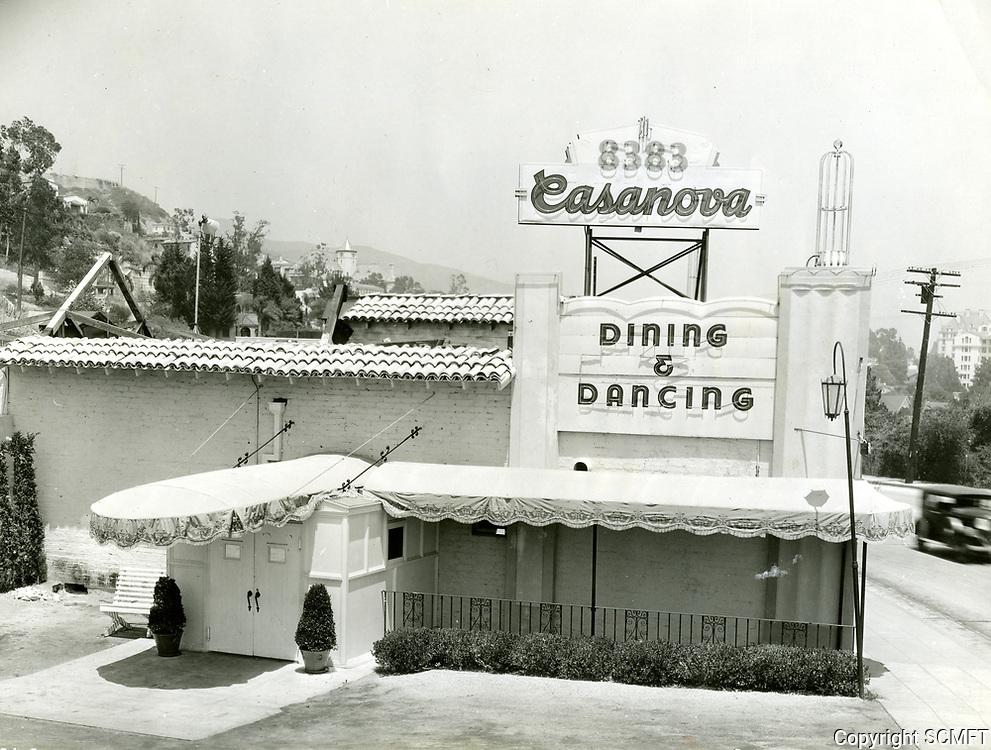 1936 Casanova Restaurant on Sunset Blvd.