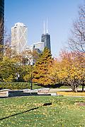 John Hancock Tower as seen from Gateway Park near Navy Pier in Chicago, Illinois