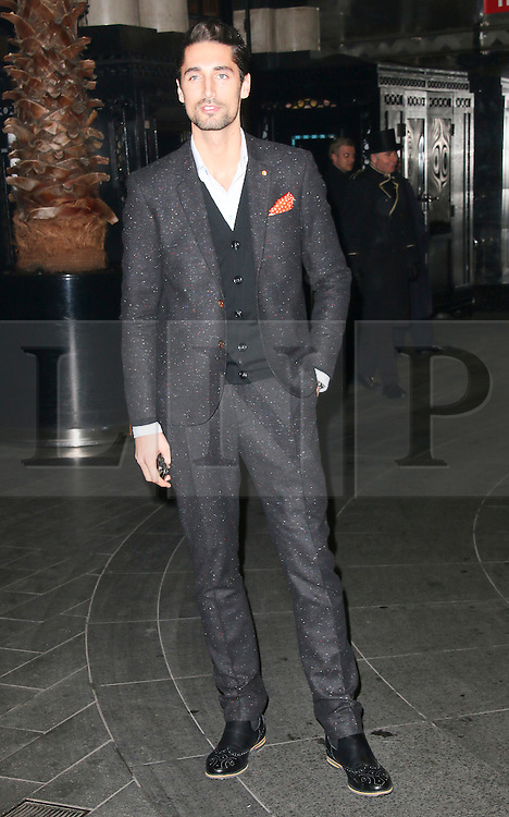 © London News Pictures. Hugo Taylor attends the Exhibition of exclusive photographs of Kate Moss at The Savoy, London UK, 30 January 2014, Photo credit: Richard Goldschmidt/LNP