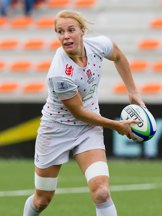 Michaela Staniford in action for England, Women's Sevens World Series - Amsterdam Leg, NRCA, Amsterdam, Netherlands, Day 1 on 22nd May 2015.