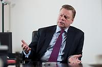 21 JAN 2010, BERLIN/GERMANY:<br /> Iaian Conn, Chief executive Refining and Marketing, Executive member of the BP board of directors, waehrend einem Interview, BP Buero Berlin<br /> IMAGE: 20100121-01-044