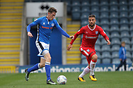 Joe Bunney assist for the opening goal during the EFL Sky Bet League 1 match between Rochdale and Gillingham at Spotland, Rochdale, England on 23 September 2017. Photo by Daniel Youngs.