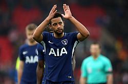 Tottenham Hotspur's Mousa Dembele applauds the fans after the Premier League match at the bet365 Stadium, Stoke