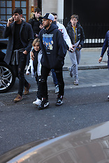 Brazilian superstar Neymar is seen shopping with friends in central London - 18 Nov 2018
