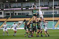 Rugby Union - 2020 / 2021 Gallagher Premiership - Round 14 - Northampton Saints vs Bristol Bears - Franklin Gardens<br /> <br /> Northampton Saints' Nick Isiekwe claims the lineout.<br /> <br /> COLORSPORT/ASHLEY WESTERN